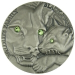 Niue Islands 1 Dollar, 1 Oz Silber Black Puma Wildlife...
