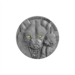 Niue Islands 1 Dollar, 1 Oz Silber Black Wolf Wildlife...