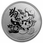 Niue Islands 1 Oz Silber Disney Jahr des Hundes Mickey...