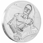 Niue Islands 2 $ - 1 Oz Silber C-3PO   Star Wars 2017 Proof