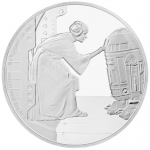 Niue Islands 2 $ - 1 Oz Silber Leia  Star Wars 2016 Proof