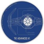 Niue Islands 2 $ - 1 Oz Silber TIE Advanced X1   Star...