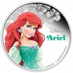 Niue Islands 2 Dollar Disney Arielle coloriert, 2015, 1...