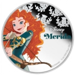 Niue Islands 2 Dollar Disney Merida coloriert, 2016, 1...