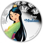Niue Islands 2 Dollar Disney Mulan coloriert, 2016, 1...