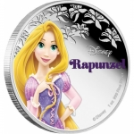Niue Islands 2 Dollar Disney Rapunzel coloriert, 2015, 1...