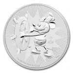Niue Islands 2 Dollar Disney - Steamboat Willie, 1 Unze...