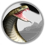 2016 Kings Of The Continents - King Cobra Silver Coin 1 oz  Silver Coin Nieu Islands $2