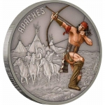 Niue Islands 2 Dollar Warriors of History Apachen...