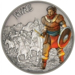Niue Islands 2 Dollar Warriors of History Hunnen...