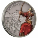 Niue $2 Warriors Of History - Mongols Silver Coin Proof 2017