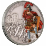 Niue Islands 2 Dollar Warriors of History Römer coloriert, 2017, 1 Unze Silber coloriert 1 oz,