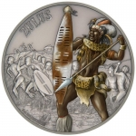 Niue $2 Warriors Of History - Zulus Silver Coin Proof 2017