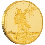 Niue Islands 25 $ - 1/4 Oz Gold Boba Fett Star Wars 2017...