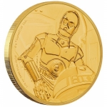 Niue Islands 25 $ - 1/4 Oz Gold C-3PO  Star Wars 2017 Proof