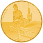 Niue Islands 25 $ - 1/4 Oz Gold Luke Skywalker Star Wars 2017 Proof