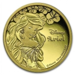 Niue Islands 25 Dollar Disney Arielle, 2015, 1/4 Unze...