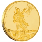 Niue Islands 250 $ - 1  Oz Gold Boba Fett  Star Wars 2017 Proof