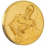 Niue Islands 250 $ - 1  Oz Gold C-3PO  Star Wars 2017 Proof