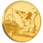 Niue Islands 250 Dollar Disney: Mickey - Fantasia,  1 Oz Gold, 2017,