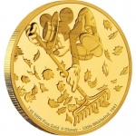 Niue Islands 250 Dollar Disney: Mickey - Whirlwind,  1 Oz...