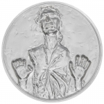 2017 $5  Han Solo Star Wars Ultra High Relief - 2 Oz Silver Coin