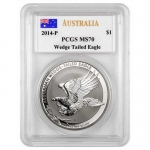 PCGS MS-70 1 Unze Silber Australian Wedge Tailed Eagle...