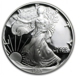1 Unze Silber American Eagle 1995 USA Proof