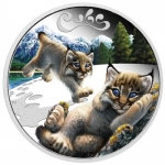 Tuvalu 1/2 Unze Silber Luchs Cubs 2016 0,50 AUD Proof