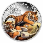 Tuvalu 1/2 Unze Silber Tiger Cubs 2016 0,50 AUD Proof
