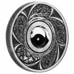 Tuvalu 1 Oz Silber Yin Yang Rotating Charm 2016 Antique
