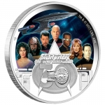 2017 $2 Star Trek The Next Generation Crew 30Th Anniversary 2oz Silver Proof