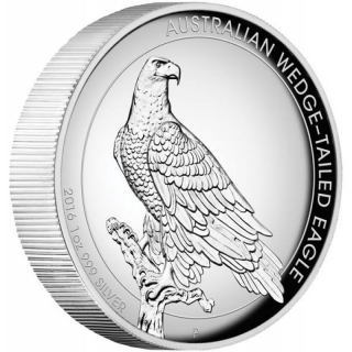 1 Oz Silber Australian Wedge Tailed Eagle 2016 High Relief 1 AUD Proof