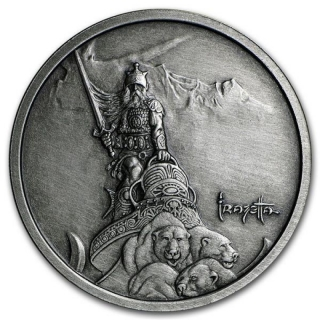 1 Unze Silber Round Frank Frazetta Silver Warrior Antique 999,99