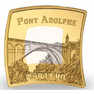 Luxembourg 2,50 Euro 2017  PP Silver Adolphe Bridge, Proof