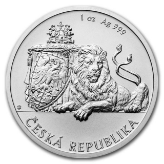 Niue Islands 1 Dollar Czech Lion - Tschechischer Löwe, 2017,  1 Unze Silber 1 oz, BU