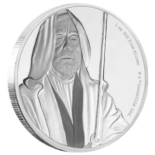 Niue Islands 2 $ - 1 Oz Silber Obi Wan Kenobi  Star Wars 2017 Proof