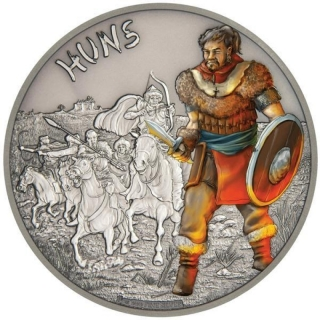 Niue $2 Warriors Of History - Huns Silver Coin Proof 2017