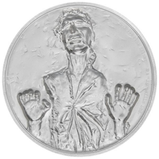 Niue Islands 5 $ - 2 Oz Silber Han Solo Star Wars 2017 Ultra High Relief