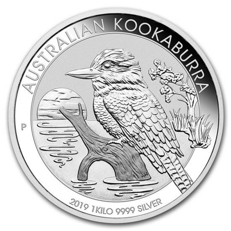 1 Kilo 3215 Oz Silver Australian Kookaburra 2019 53465 A
