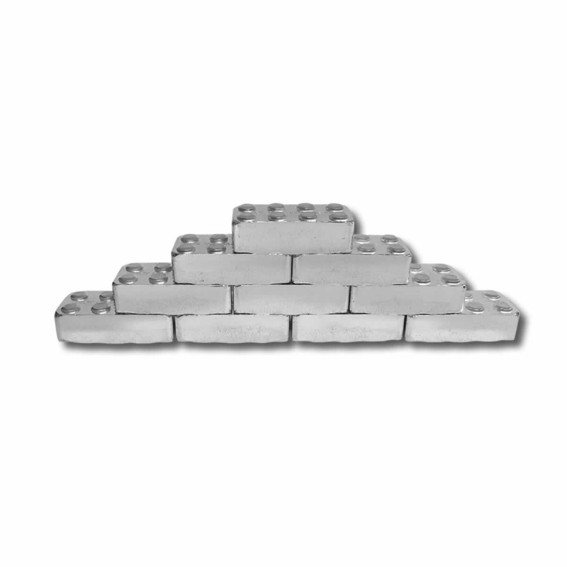 1 Oz Fine Silver Monarch Building Block Bar 24 18
