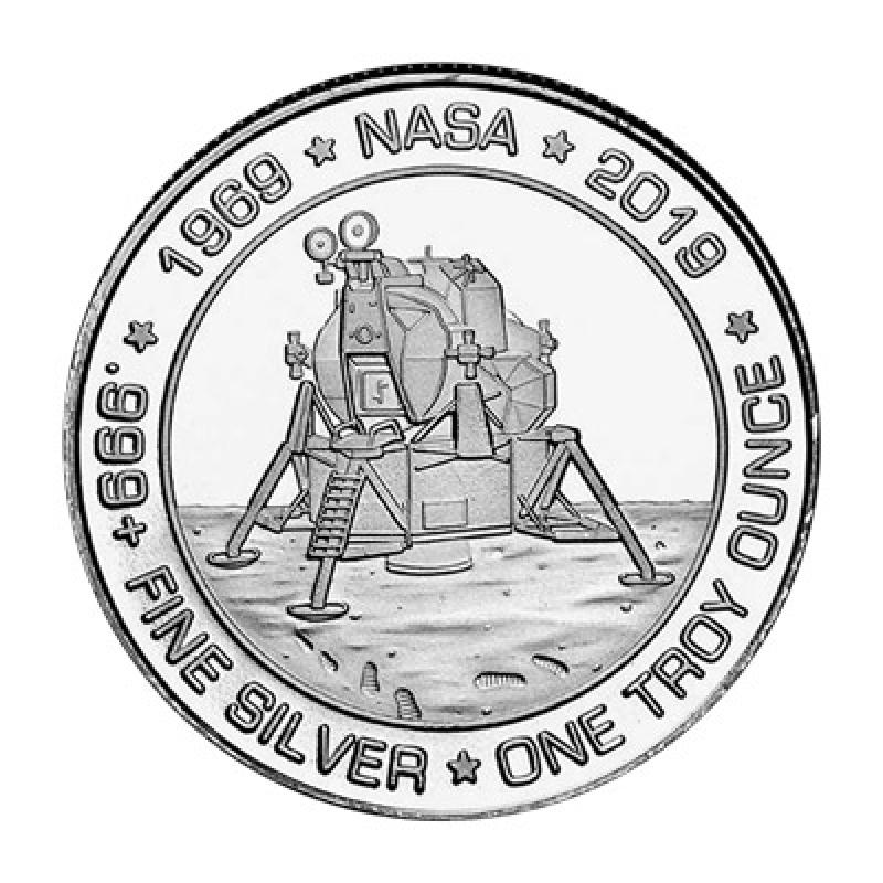 SilverTowne Silver 1 oz Apollo 11 Round
