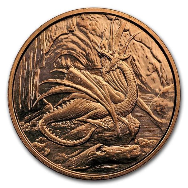 Nordic Creatures Garm 1 oz Copper Round BU