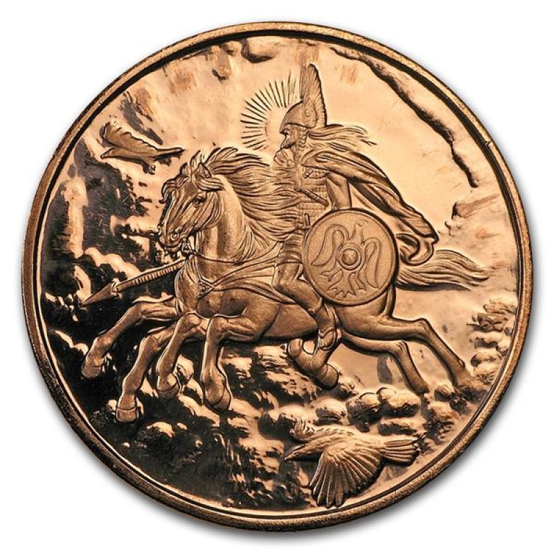 SLEIPNIR  1 oz Copper Round coin  3rd  in Series   NORDIC CREATURES