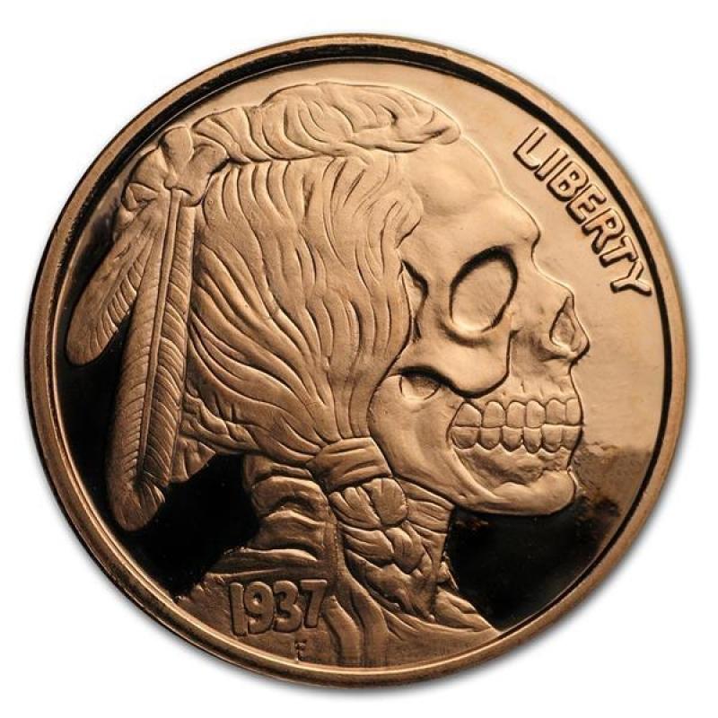Bullion 1 Oz Year Of The Snake Copper Bullion Round .999 Fine Coins & Paper Money