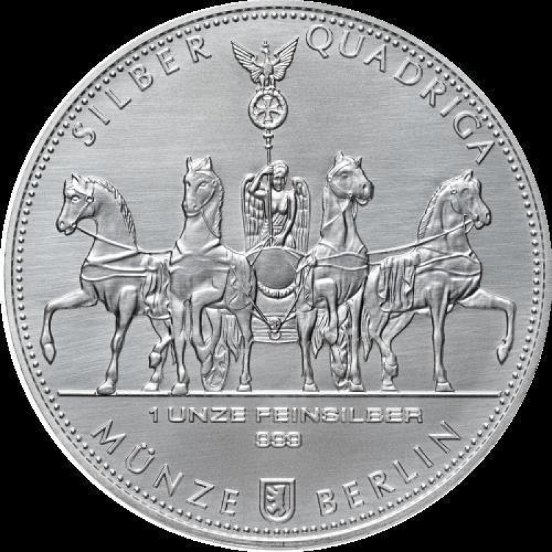 1 Oz Silver Germania Quadriga 2017 999 99 24 90