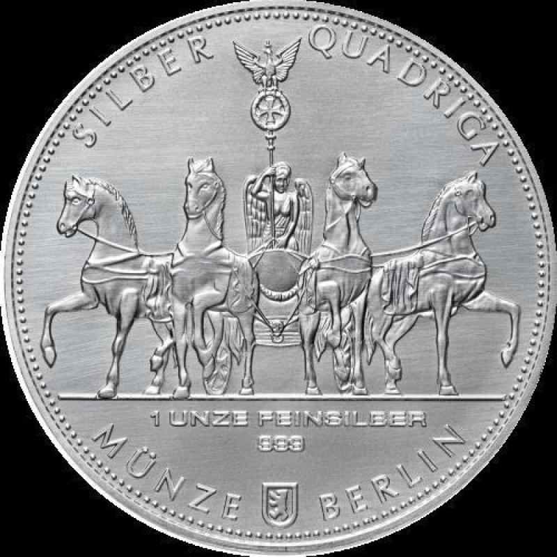 1 Oz Silver Germania Quadriga 2017 999 99 24 90