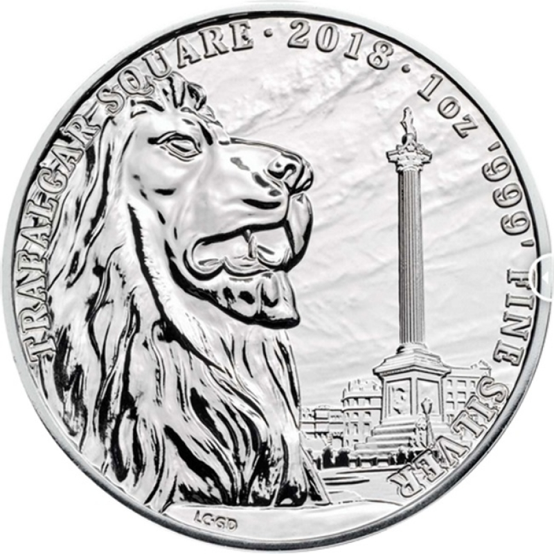 2018 Great Britain 1 oz Silver Landmarks of Britain (Trafalgar Square)