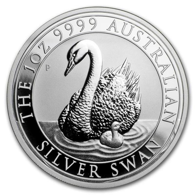2017 /& 2018 Silver Swan 1 oz 9999 Silver Coin Perth Mint Capsule