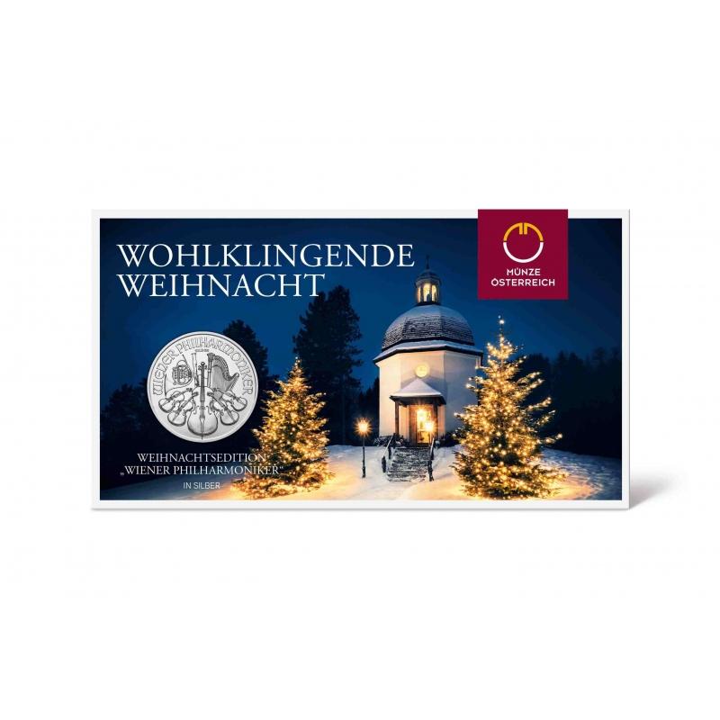 1 Unze Silber Wiener Philharmoniker 2018 österreich Weihnachtsed